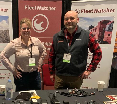 FleetWatcher personnel at SCAPA conference exhibit