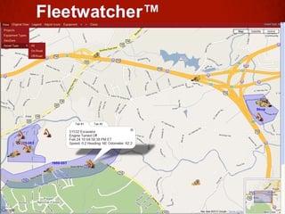 FleetWatcher GeoZones in action